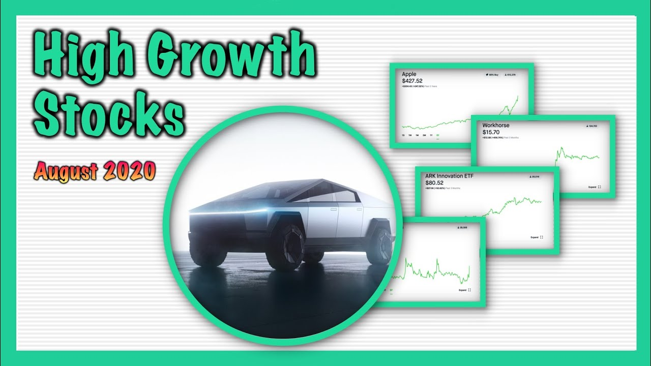 TOP 4 GROWTH STOCKS FOR AUGUST - [Unique Stocks] | Robinhood Investing