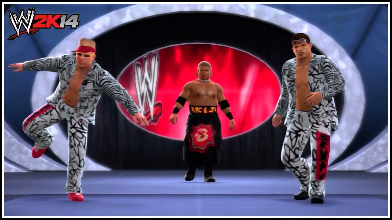 Wwe 2k14 too cool dancing trio entrance youtube for Cool wwe pictures