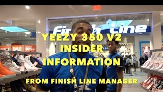 Finish Line Store Manager With Exclusive YEEZY 350 V2 Release Information