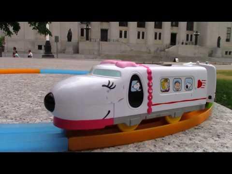 Plarail Snoopy Express visita em Supreme Court of Canada, Ottawa, Canada 02788 pt