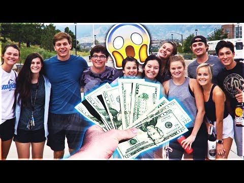 Giving Money To Broke College Students