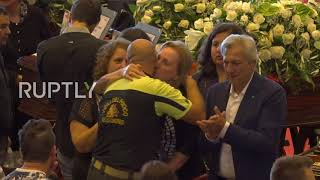 Italy: Officials lead state funeral for Genoa bridge collapse victims