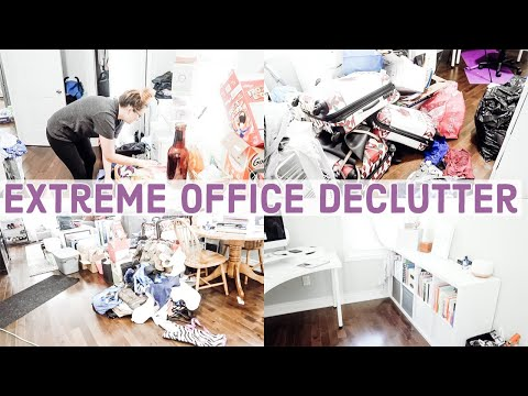 Extreme Office Declutter   Home Office Organization   Navigating Nicole   2019