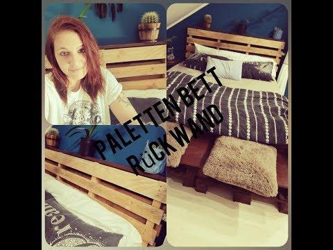 Paletten Rückwand fürs Bett/ Schlafzimmer DIY
