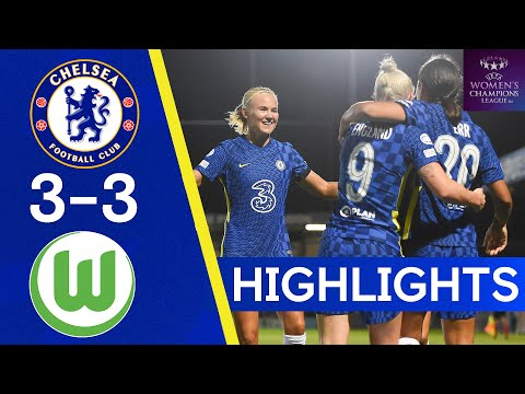 Chelsea 3-3 VfL Wolfsburg | Harder Scores Injury Time Goal In 6 Goal Thriller | Champions League