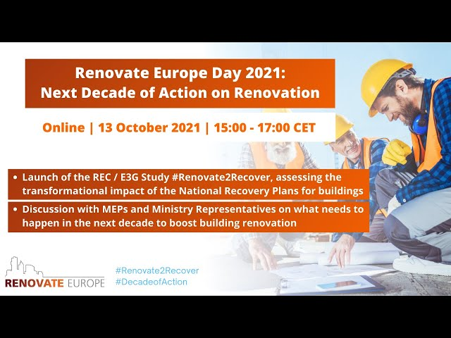 REDay2021 Conference - Next Decade of Action on Renovation