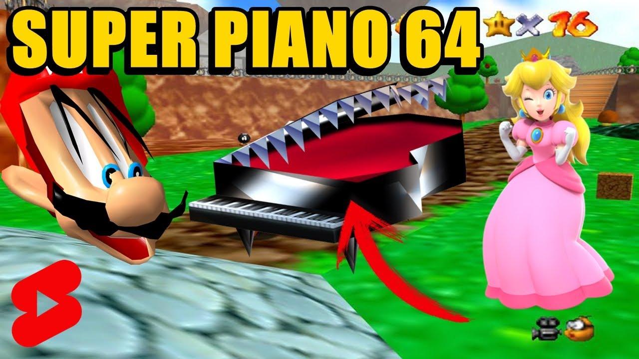 Jugando como el PIANO en Super Mario 64 de N64 (TIKTOK) #shorts