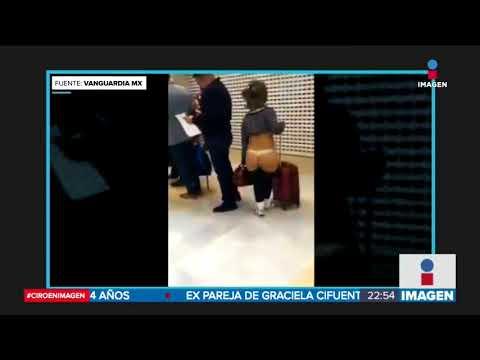 Casi desnuda en el aeropuerto de Torreón | Noticias con Ciro Gómez Leyva