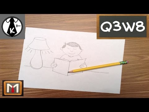 How To Draw Person Reading Book