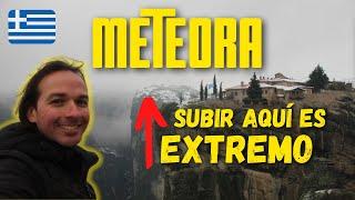 METEORA cubierta de nieve!    Viajando con Mirko GRECIA
