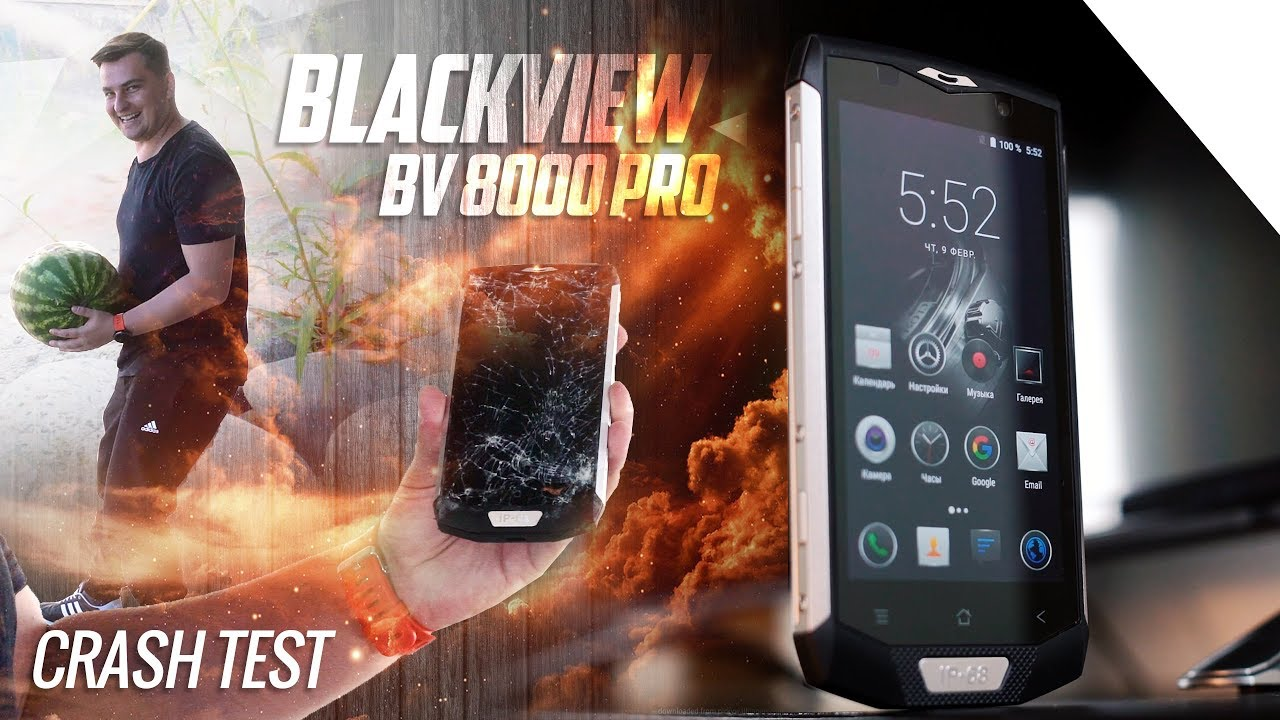 Обзор и краш-тест Blackview BV8000 Pro. 6 Гб RAM, 64 ROM, IP68 .