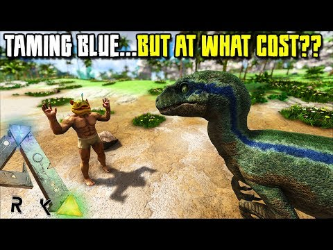 WE TAMED BLUE!! BUT AT WHAT COST?? | JURASSIC ARK | ARK SURVIVAL EVOLVED [EP91]