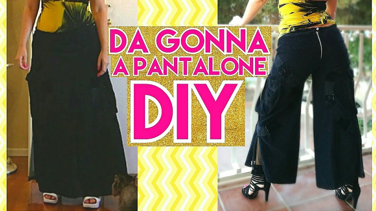 Come Trasformare Una Gonna In Un Pantalone Skirt In Pants Diy Tutorial By Diana Toto