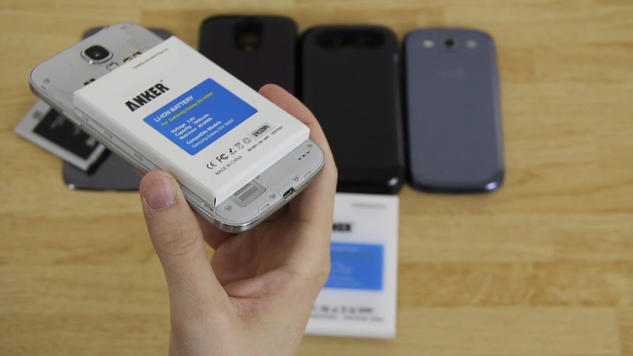 big sale 170e4 35f25 Samsung Galaxy S3 (7200mAh) and Galaxy S4 (7800mAh) Anker Extended Battery  Unboxing!