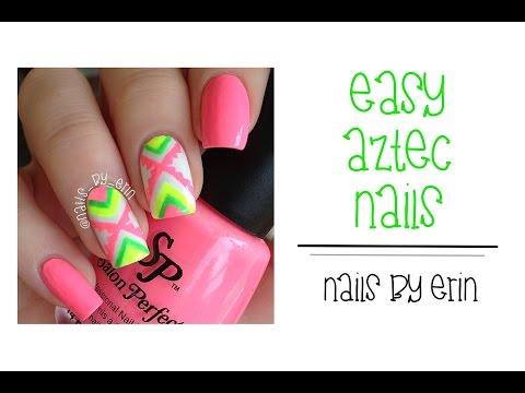 Easy Aztec Nails | NailsByErin