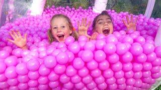 Nastya y Stacy tuvieron una nueva competencia divertida para niños