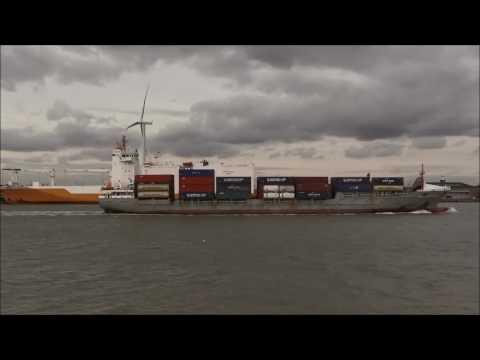 Thames Shipping by Richie Sloan The CMA CGM GOYA.