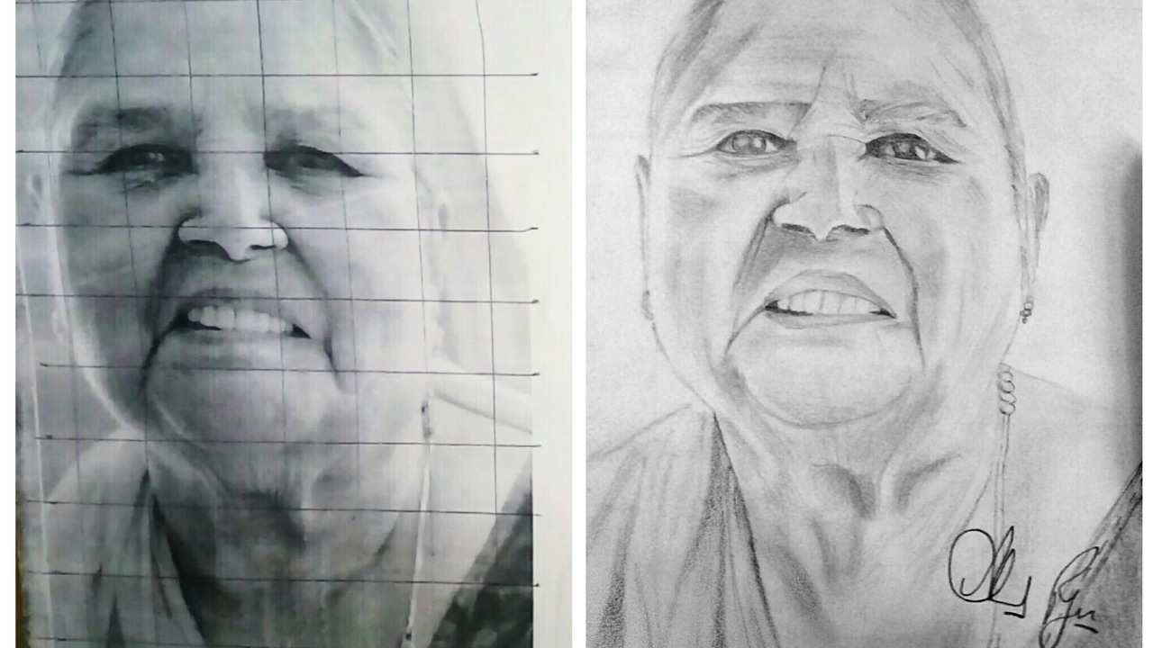 How to draw a portrait by grid method for beginners tutorial