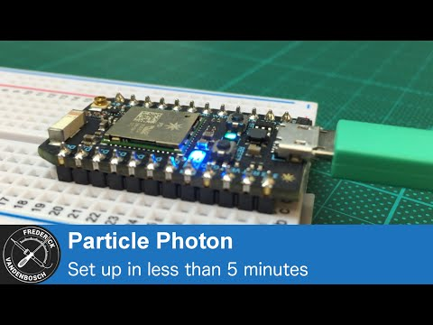 Getting started with Particle Photon in less than 5 minutes