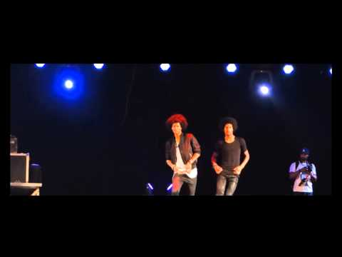 Les Twins stage performance West Africa