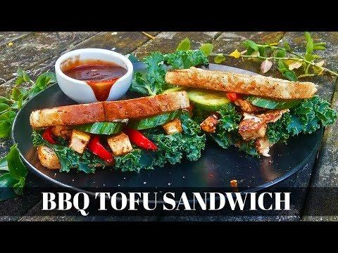 vegan tofu sandwich