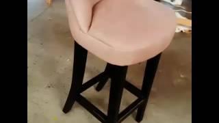 Изменение дизайна барных кресел. Из классическиз барных кресел с пиковкой сделали более изящные.