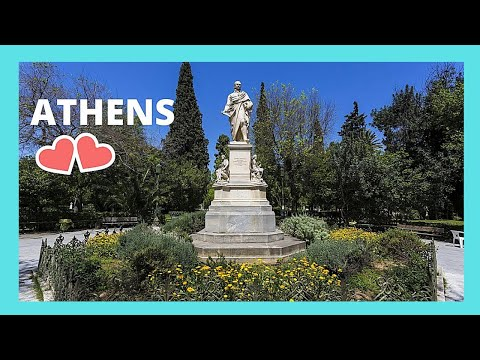 ATHENS (GREECE), walking through the NATIONAL GARDENS
