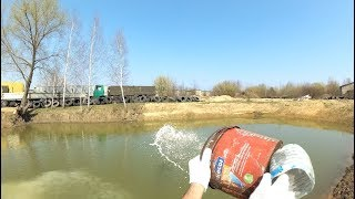 Известкование пруда / Liming of the reservoir