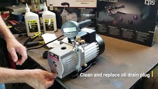 CPS Products Tech Tips: Vacuum Pump Oil Change Out