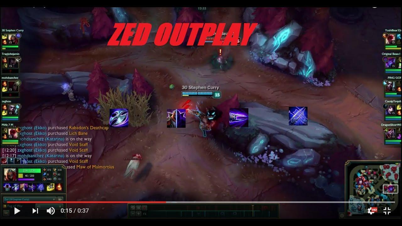 Zed outplay in blood moon youtube - Blood moon zed ...