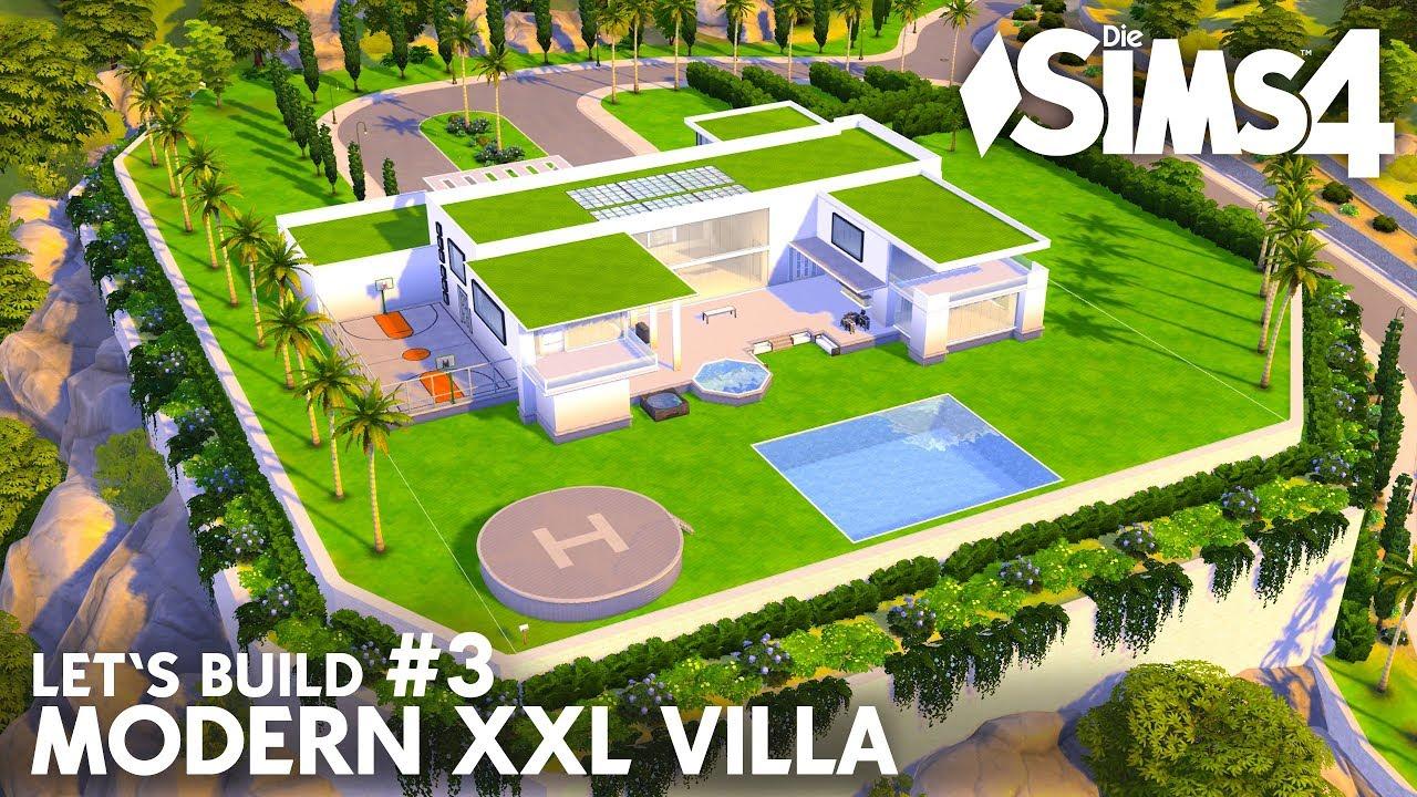 Die Sims 4 Modern Xxl Villa 3 Haus Bauen Fur Eine Grosse Familie