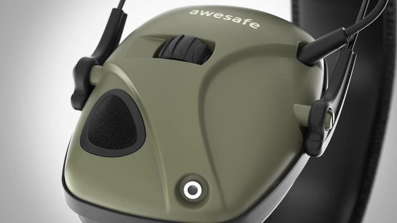 Noise Reduction Sound Amplification Electro awesafe Electronic Shooting Earmuff