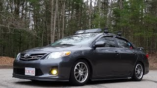 Lowered Toyota Corolla!! (KSport Coilovers)