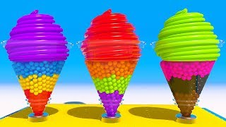 Learn Colors with Soft 3D Ice Cream Machine