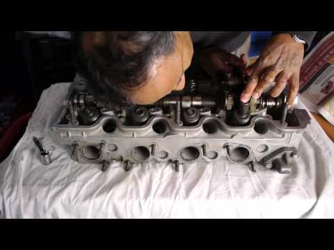 Rebuilding the cylinder head Mercedes 190E