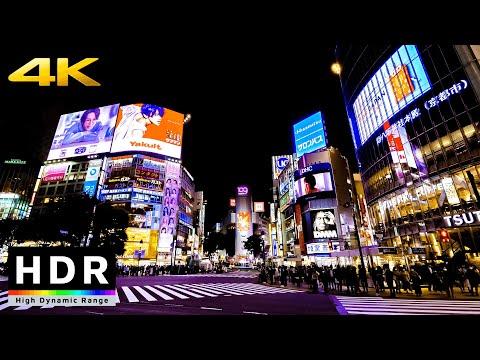 【4K HDR】Night Walk in Tokyo Shibuya (東京散歩) - Fall 2020