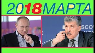 Рейтинг кандидатов в президенты России список выборы 2018 онлайн голосование Статистика