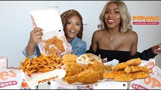 POPEYES FRIED CHICKEN MUKBANG | EATING SHOW | WATCH US EAT
