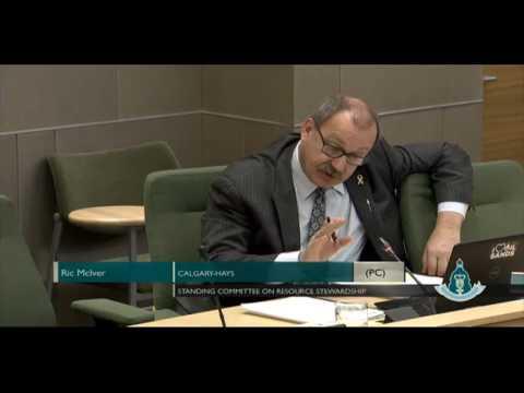 MLA Ric McIver - Budget Estimates: Treasury Board and Finance
