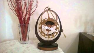 Twowheel Wooden Clock