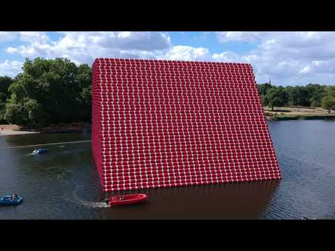 The Mastabas London Hyde Park by Christo