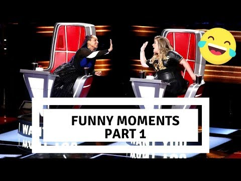 The Voice US | S14 Funny Moments blind auditions | PART 1