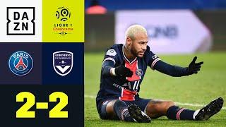 Zwei Tore in zwei Minuten reichen PSG nicht: PSG - Bordeaux 2:2 | Ligue 1 | DAZN Highlights