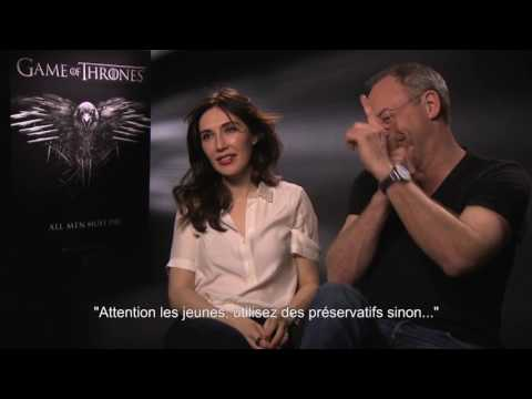 Game of thrones   DAVOS & MELISANDRE Liam Cunningham & Carice van Houten   Interview CinéFilou
