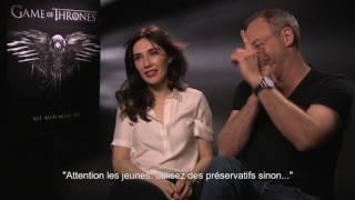 Game of thrones   DAVOS & MELISANDRE Liam Cunningham & Carice van Houten   Interview CinéFilou