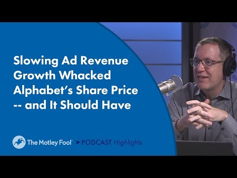 Slowing Ad Revenue Growth Whacked Alphabet's Share Price -- and It Should Have