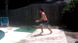 Gainer Back flip 180 Into Pool