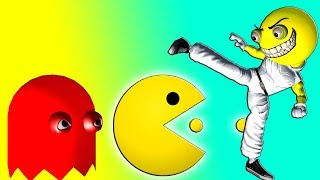 PACMAN does KUNG FU  ♫  a short 3D animation game mashup ☺ FunVideoTV - Style ;-))