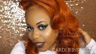Cardi B Inspired Hollywood Curls