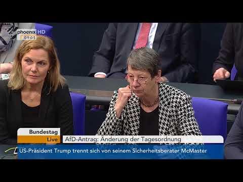 Bundestag: Antrag der AfD auf Änderung der Tagesordnung am 23.03.2018
